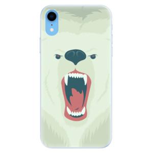 Silikonové pouzdro iSaprio (mléčně zakalené) Naštvanej Medvěd na mobil Apple iPhone XR