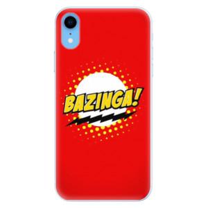Silikonové pouzdro iSaprio (mléčně zakalené) Bazinga 01 na mobil Apple iPhone XR