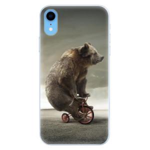 Silikonové pouzdro iSaprio (mléčně zakalené) Medvěd 01 na mobil Apple iPhone XR