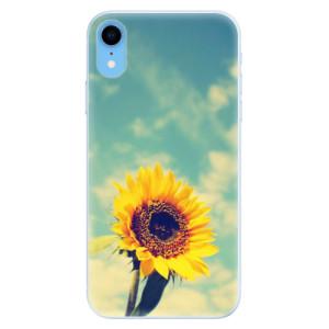 Silikonové pouzdro iSaprio (mléčně zakalené) Slunečnice 01 na mobil Apple iPhone XR
