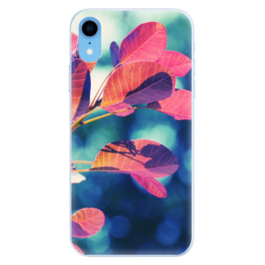 Silikonové pouzdro iSaprio (mléčně zakalené) Podzim 01 na mobil Apple iPhone XR