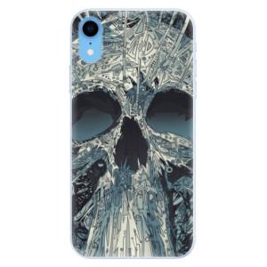 Silikonové pouzdro iSaprio (mléčně zakalené) Abstract Skull na mobil Apple iPhone XR