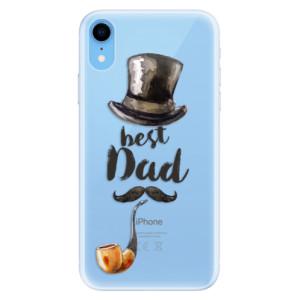 Silikonové pouzdro iSaprio (mléčně zakalené) Best Dad na mobil Apple iPhone XR
