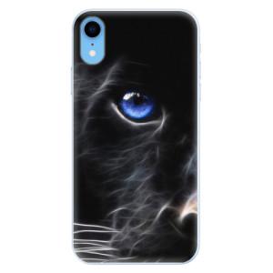 Silikonové pouzdro iSaprio (mléčně zakalené) Black Puma na mobil Apple iPhone XR