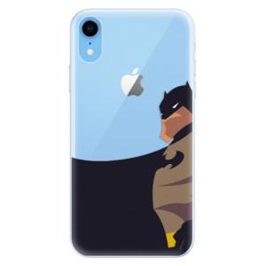 Silikonové pouzdro iSaprio (mléčně zakalené) BaT Komiks na mobil Apple iPhone XR