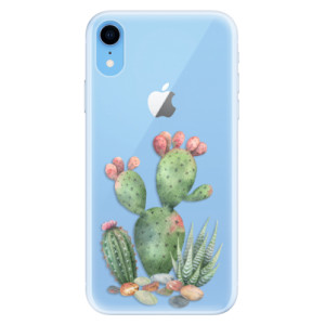 Silikonové pouzdro iSaprio (mléčně zakalené) Kaktusy 01 na mobil Apple iPhone XR