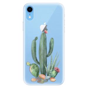 Silikonové pouzdro iSaprio (mléčně zakalené) Kaktusy 02 na mobil Apple iPhone XR