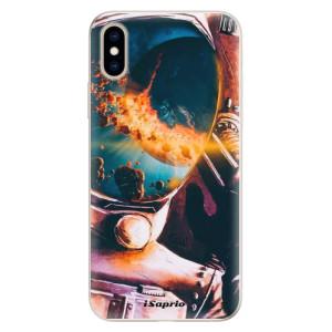 Silikonové pouzdro iSaprio (mléčně zakalené) Astronaut 01 na mobil Apple iPhone XS