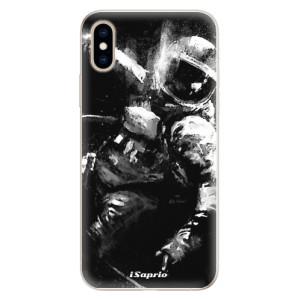 Silikonové pouzdro iSaprio (mléčně zakalené) Astronaut 02 na mobil Apple iPhone XS