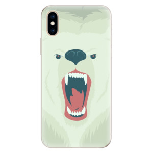 Silikonové pouzdro iSaprio (mléčně zakalené) Naštvanej Medvěd na mobil Apple iPhone XS