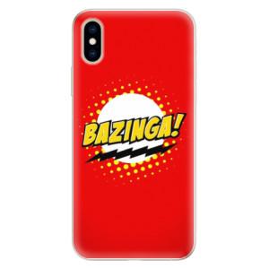 Silikonové pouzdro iSaprio (mléčně zakalené) Bazinga 01 na mobil Apple iPhone XS