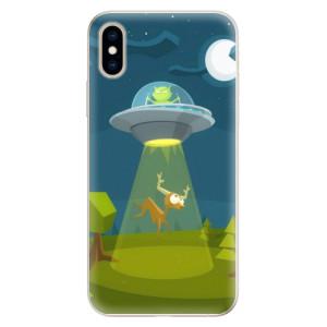 Silikonové pouzdro iSaprio (mléčně zakalené) Ufouni 01 na mobil Apple iPhone XS
