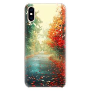 Silikonové pouzdro iSaprio (mléčně zakalené) Podzim 03 na mobil Apple iPhone XS
