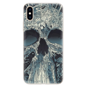 Silikonové pouzdro iSaprio (mléčně zakalené) Abstract Skull na mobil Apple iPhone XS