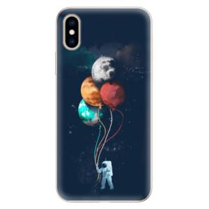 Silikonové pouzdro iSaprio (mléčně zakalené) Balónky 02 na mobil Apple iPhone XS