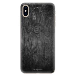 Silikonové pouzdro iSaprio (mléčně zakalené) Black Wood 13 na mobil Apple iPhone XS Max