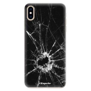 Silikonové pouzdro iSaprio (mléčně zakalené) Broken Glass 10 na mobil Apple iPhone XS Max