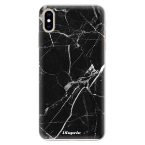 Silikonové pouzdro iSaprio (mléčně zakalené) Black Marble 18 na mobil Apple iPhone XS Max