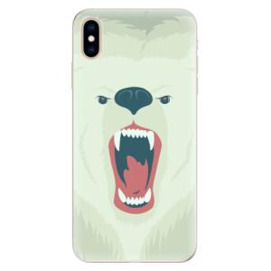 Silikonové pouzdro iSaprio (mléčně zakalené) Naštvanej Medvěd na mobil Apple iPhone XS Max