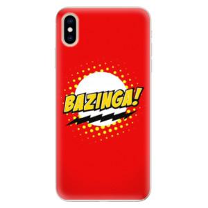 Silikonové pouzdro iSaprio (mléčně zakalené) Bazinga 01 na mobil Apple iPhone XS Max