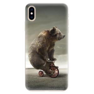 Silikonové pouzdro iSaprio (mléčně zakalené) Medvěd 01 na mobil Apple iPhone XS Max