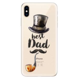 Silikonové pouzdro iSaprio (mléčně zakalené) Best Dad na mobil Apple iPhone XS Max