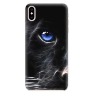 Silikonové pouzdro iSaprio (mléčně zakalené) Black Puma na mobil Apple iPhone XS Max