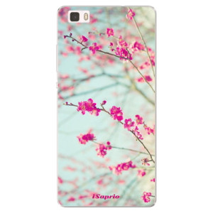 Silikonové pouzdro iSaprio (mléčně zakalené) Blossom 01 na mobil Huawei P8 Lite