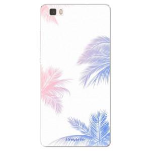 Silikonové pouzdro iSaprio (mléčně zakalené) Palmy 10 na mobil Huawei P8 Lite