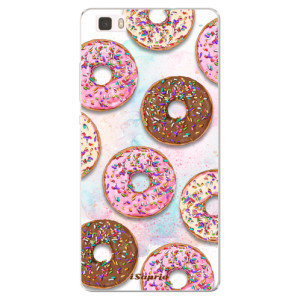 Silikonové pouzdro iSaprio (mléčně zakalené) Donutky Všude 11 na mobil Huawei P8 Lite