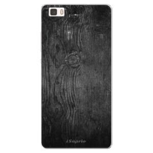 Silikonové pouzdro iSaprio (mléčně zakalené) Black Wood 13 na mobil Huawei P8 Lite