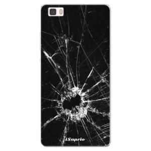 Silikonové pouzdro iSaprio (mléčně zakalené) Broken Glass 10 na mobil Huawei P8 Lite