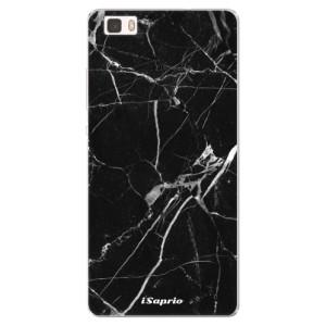 Silikonové pouzdro iSaprio (mléčně zakalené) Black Marble 18 na mobil Huawei P8 Lite