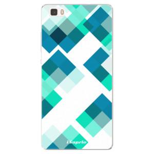Silikonové pouzdro iSaprio (mléčně zakalené) Abstract Squares 11 na mobil Huawei P8 Lite