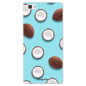 Silikonové pouzdro iSaprio (mléčně zakalené) Kokos 01 na mobil Huawei P8 Lite
