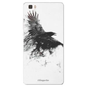 Silikonové pouzdro iSaprio (mléčně zakalené) Havran 01 na mobil Huawei P8 Lite