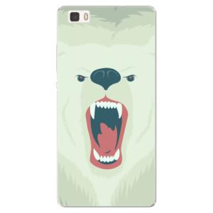 Silikonové pouzdro iSaprio (mléčně zakalené) Naštvanej Medvěd na mobil Huawei P8 Lite