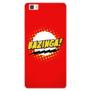 Silikonové pouzdro iSaprio (mléčně zakalené) Bazinga 01 na mobil Huawei P8 Lite