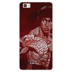 Silikonové pouzdro iSaprio (mléčně zakalené) Bruce Lee na mobil Huawei P8 Lite
