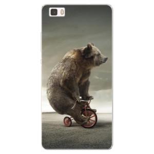 Silikonové pouzdro iSaprio (mléčně zakalené) Medvěd 01 na mobil Huawei P8 Lite