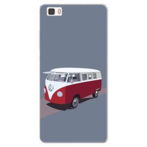 Silikonové pouzdro iSaprio (mléčně zakalené) VW Bus na mobil Huawei P8 Lite