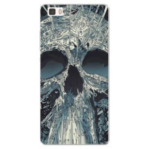 Silikonové pouzdro iSaprio (mléčně zakalené) Abstract Skull na mobil Huawei P8 Lite