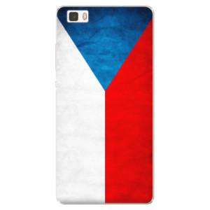 Silikonové pouzdro iSaprio (mléčně zakalené) Česká Vlajka na mobil Huawei P8 Lite