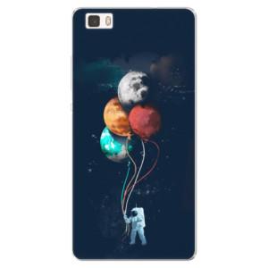 Silikonové pouzdro iSaprio (mléčně zakalené) Balónky 02 na mobil Huawei P8 Lite