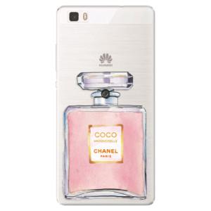 Silikonové pouzdro iSaprio (mléčně zakalené) Chanel Rose na mobil Huawei P8 Lite