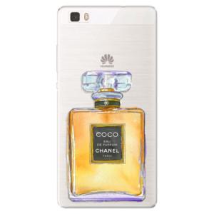 Silikonové pouzdro iSaprio (mléčně zakalené) Chanel Gold na mobil Huawei P8 Lite