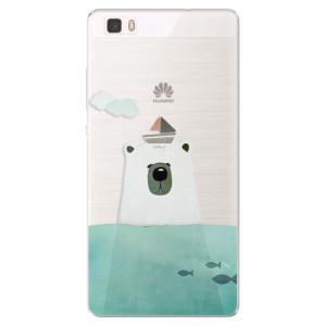 Silikonové pouzdro iSaprio (mléčně zakalené) Medvěd s Lodí na mobil Huawei P8 Lite