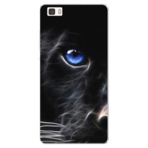 Silikonové pouzdro iSaprio (mléčně zakalené) Black Puma na mobil Huawei P8 Lite