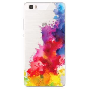 Silikonové pouzdro iSaprio (mléčně zakalené) Color Splash 01 na mobil Huawei P8 Lite