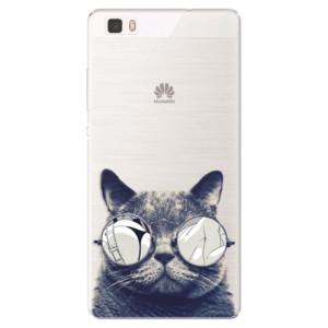 Silikonové pouzdro iSaprio (mléčně zakalené) Šílená Číča 01 na mobil Huawei P8 Lite